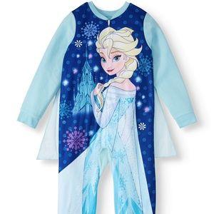 Frozen Girl's Pajama Blanket Sleeper Onesie